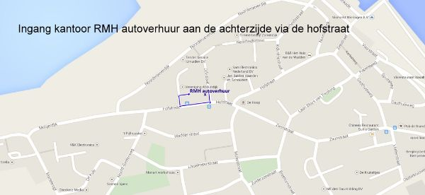 Routebeschrijving RMH Autoverhuur.nl