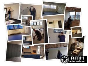collage vordering nieuw kantoor